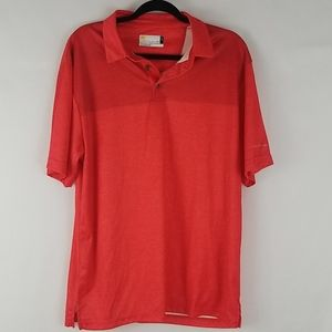 Nicklaus STAYDRI red collared shirt size large